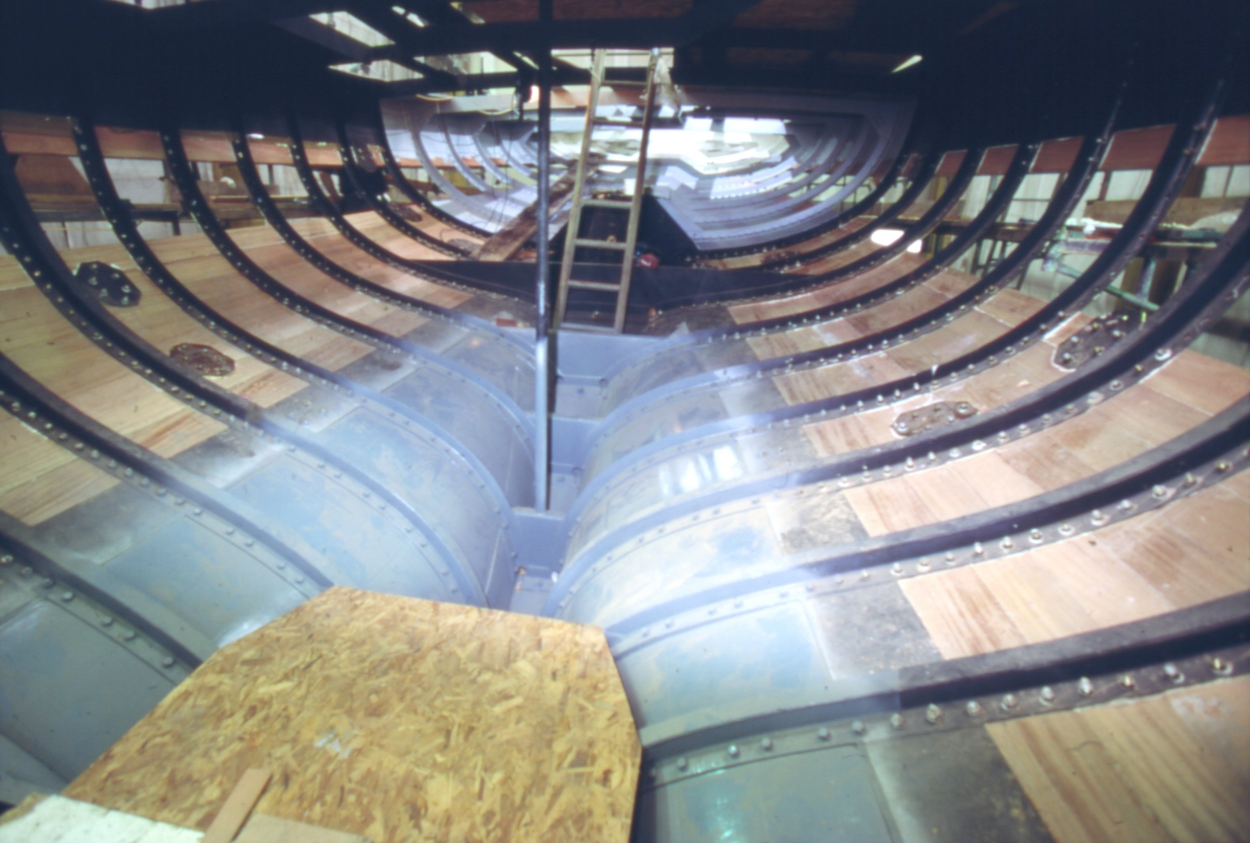 Fife designed the Lady Anne undergoing restoration at Fairlie Yachts