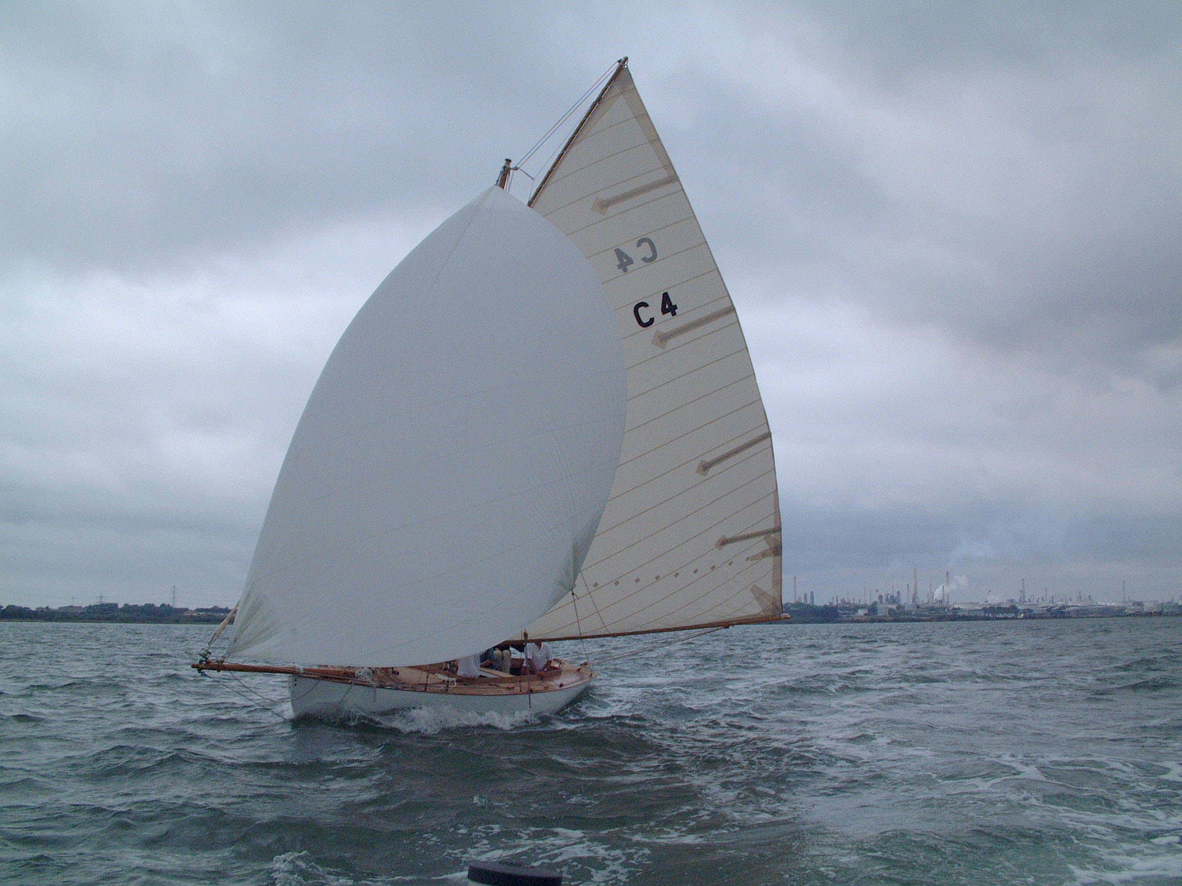 Jap trys out her new spinnaker