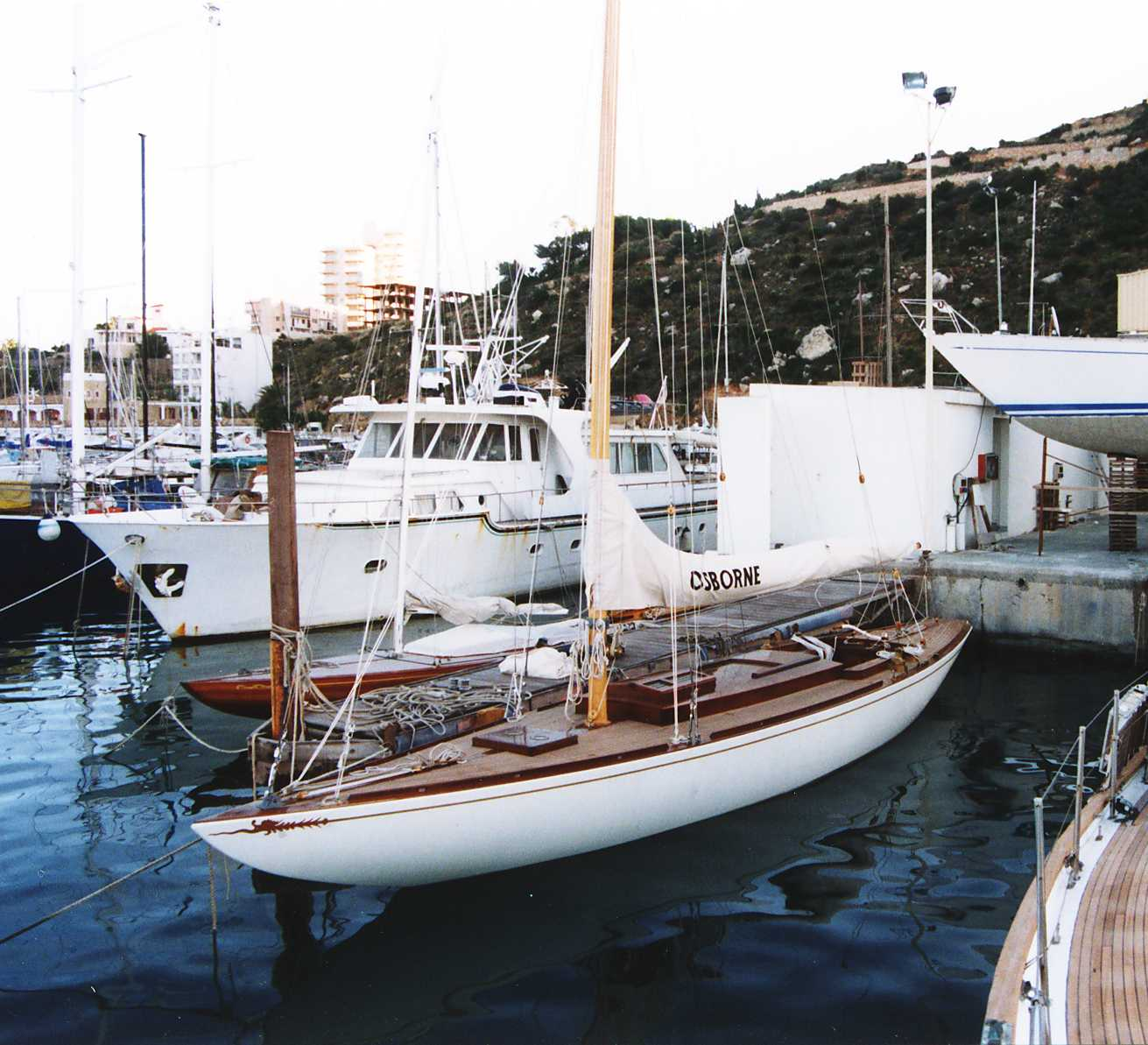 Osborne following her restoration at Fairlie Yachts