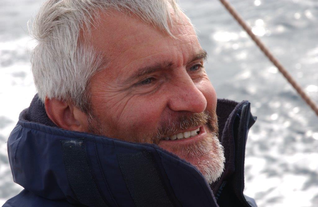 Duncan Walker enjoys a sail on Mariquita