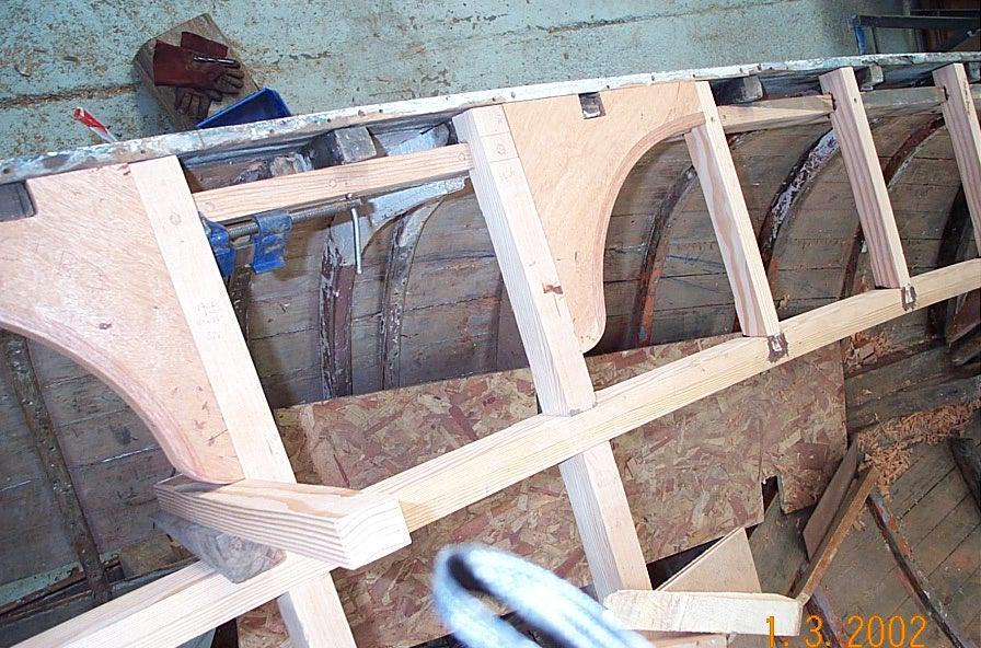 'G' new deck beams & carlings