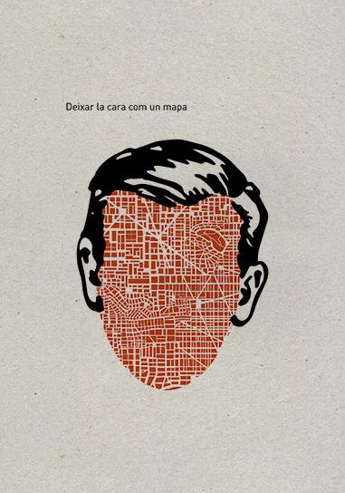 Deixar la cara com un mapa