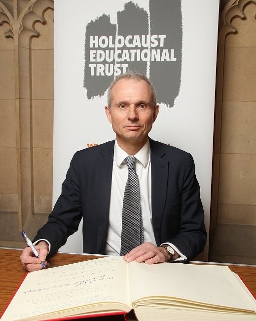 This week David signed the  Holocaust Educational Trust Book of Commitment, pledging    his commitment to Holocaust Memorial Day, honouring those who died and paying tribute to the Holocaust survivors who still work to educate young people about these events.