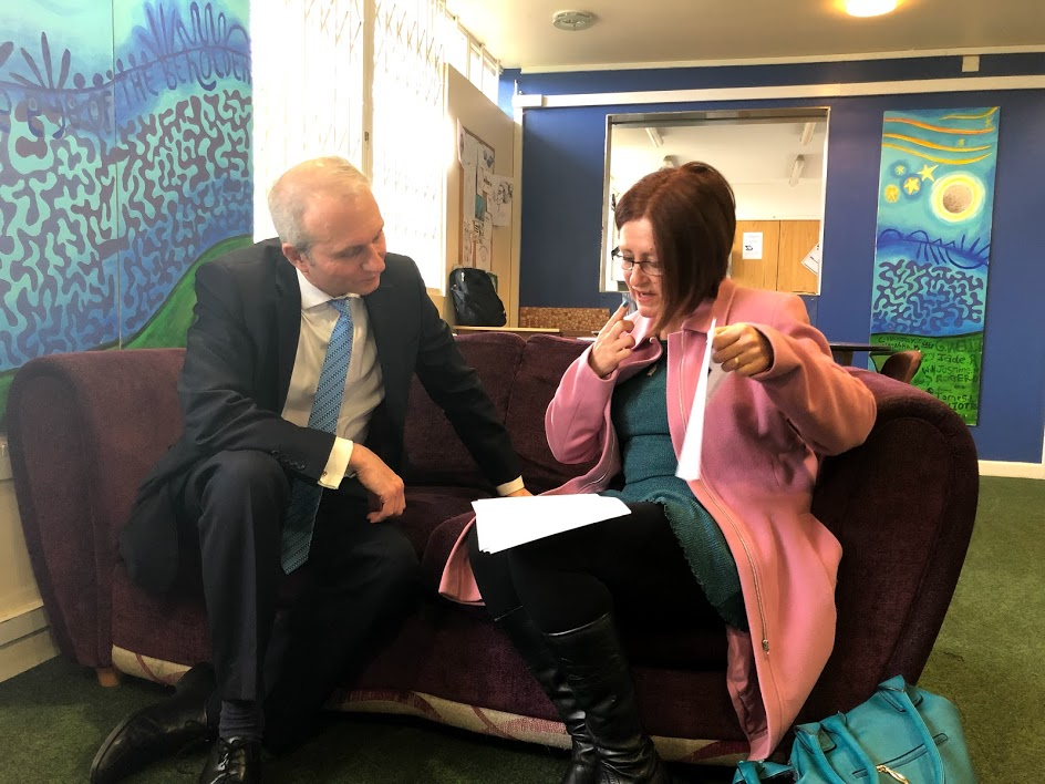 Meeting Fran Borg-Wheeler CEO of Youth Concern (www.youthconcern.org.uk) which offers help and support to vulnerable young people aged 13-25 years.