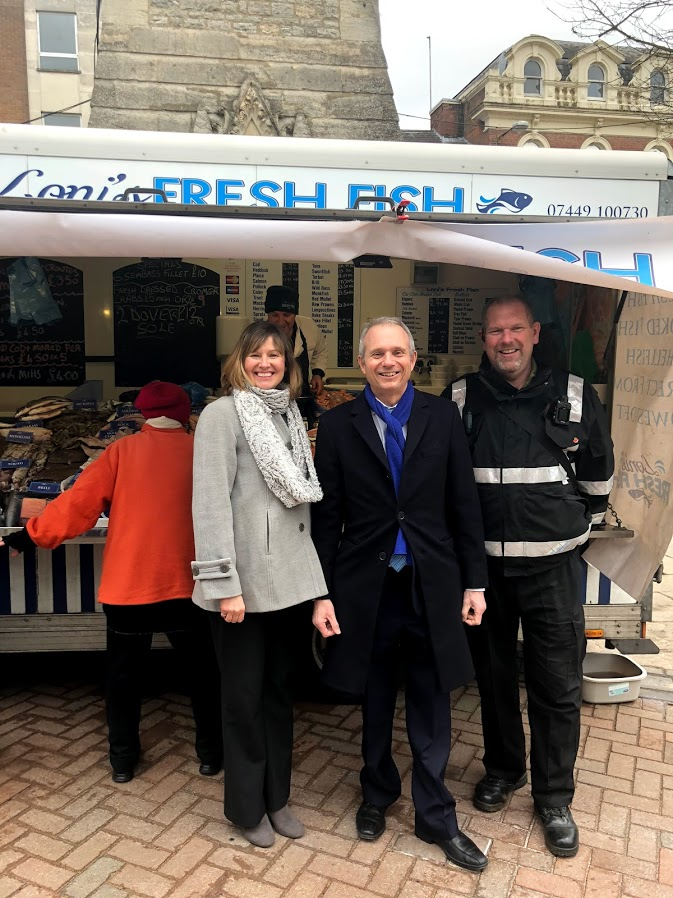 Talking to Diana Fawcett, Aylesbury Town Centre Manager.