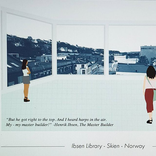 Postcard form Future Ibsen Library! #skienby