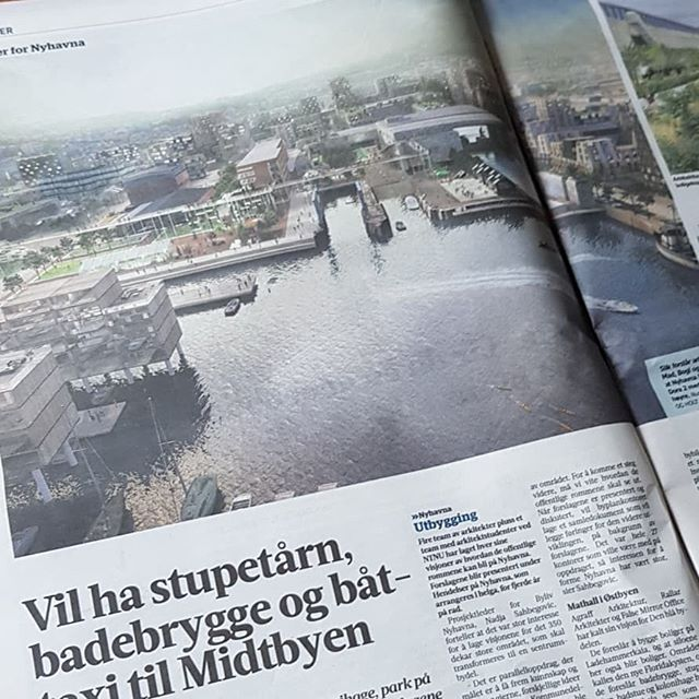 Our vision for Nyhavna hit the headlines! Great day in sunny Trondheim yesterday where Betina from @holt_obrien and Jens from @bogl_bangoglinnet presented our proposal for Nyhavna made with @madarkitekter. The presentation was followed by a discussion with local politicians and the planning authority.  Nyhavna is a large industrial area between the centre of Trondheim, Nidelva River and the seafront. Its an amazing area packed with layers and artefacts of the history of Trondheim.  Our proposal builds on that special character while also better connecting the area to the city centre and to the water,  creating a vibrant and liveable part of future Trondheim #trondheim #nyhavna #urbanism  #norwegianarchitecture #madarkitekter #bogl #enblåtråd #hendelserpånyhavna