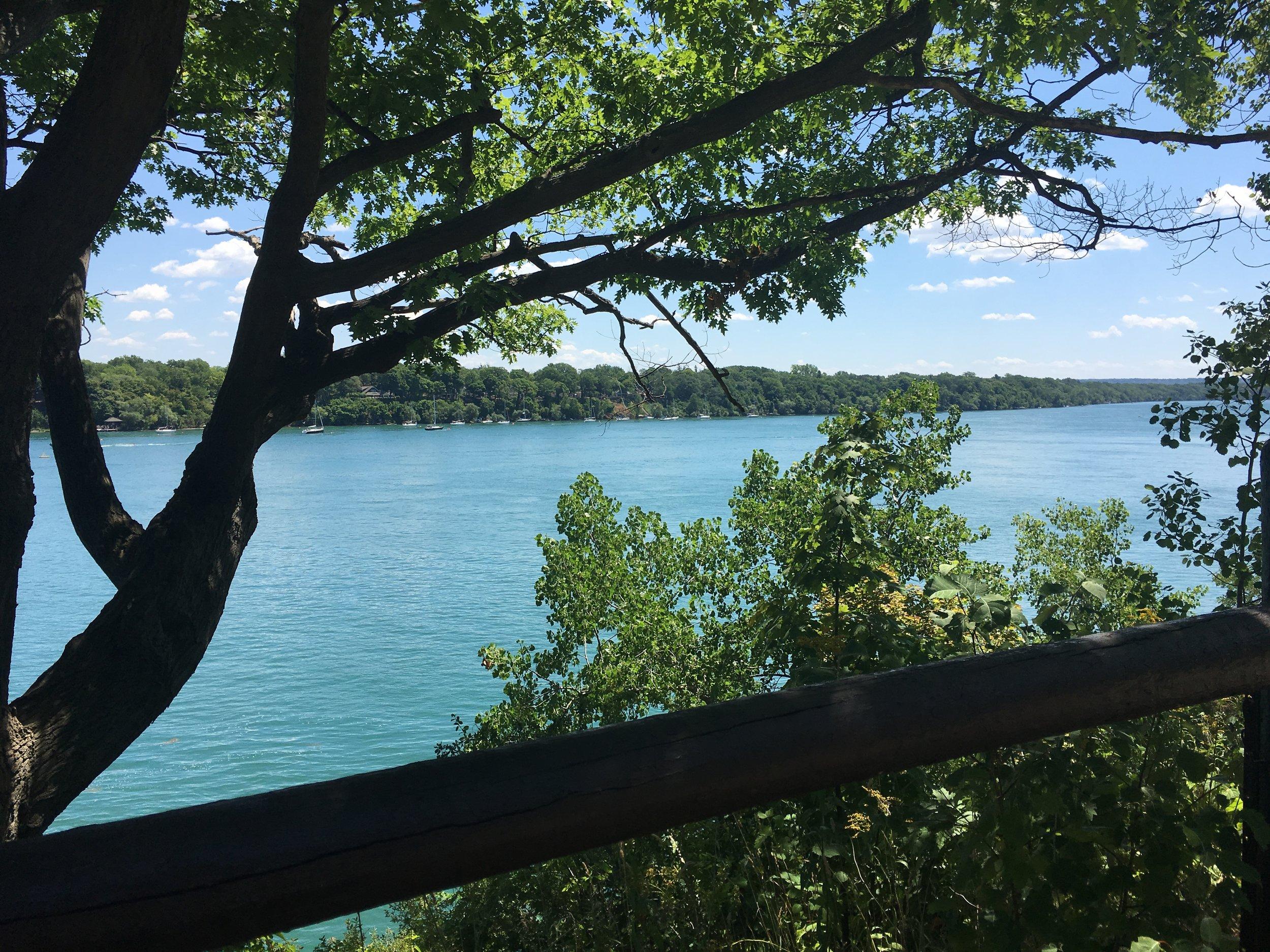 The beautiful Lake Ontario from Niagara-on-the-Lake