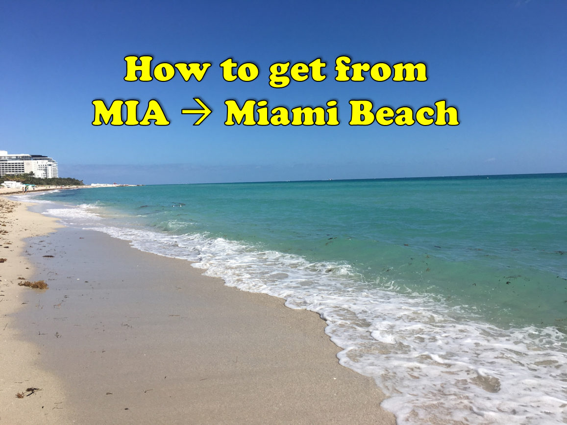 how to get from mia to miami beach
