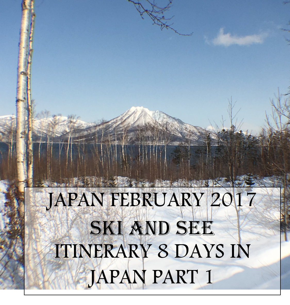 Japan February 2017 Ski and See Itinerary 8 days in Japan