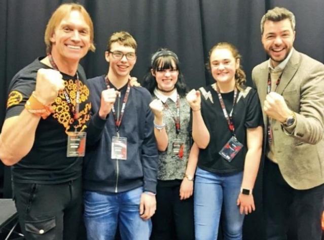 Matt and Daniel with Finn, Tasha and Lily