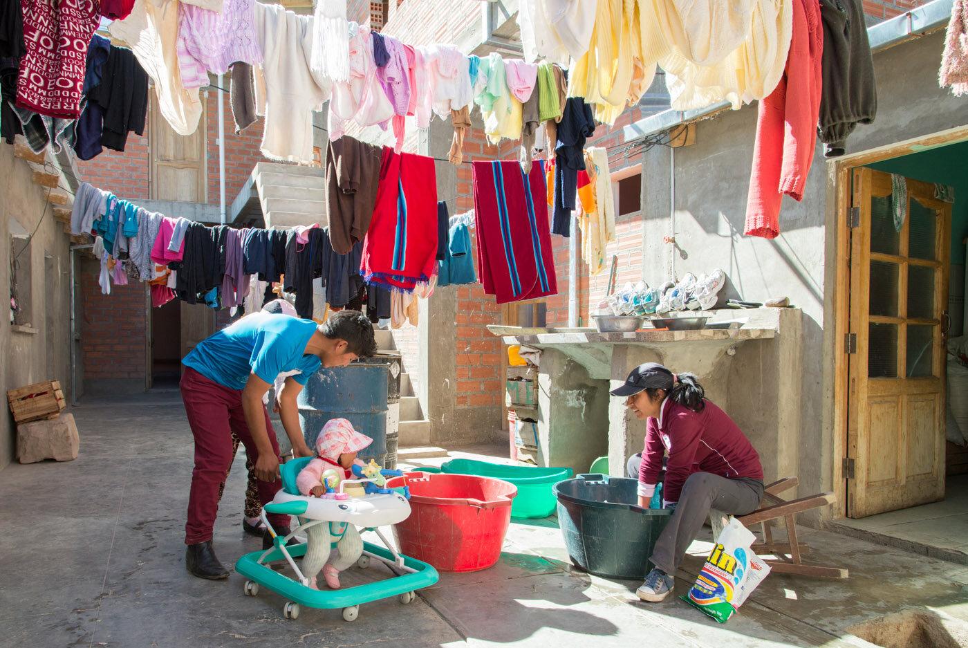 """ Wash Day Oruro Bolivia "", by Kathy Gordon"