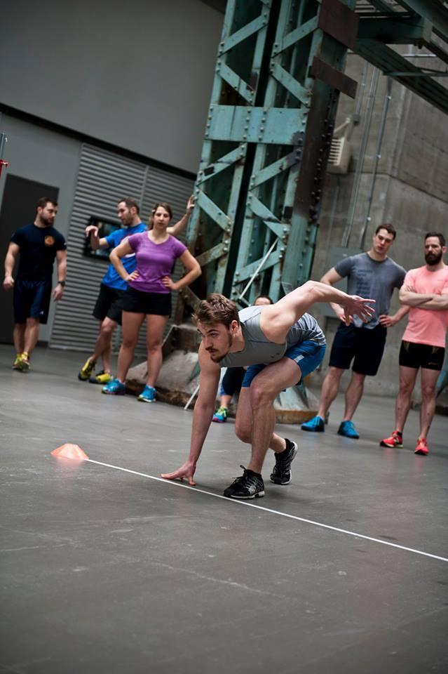 Sprinter en action / Compétition amicale Combine 2016 au Studio