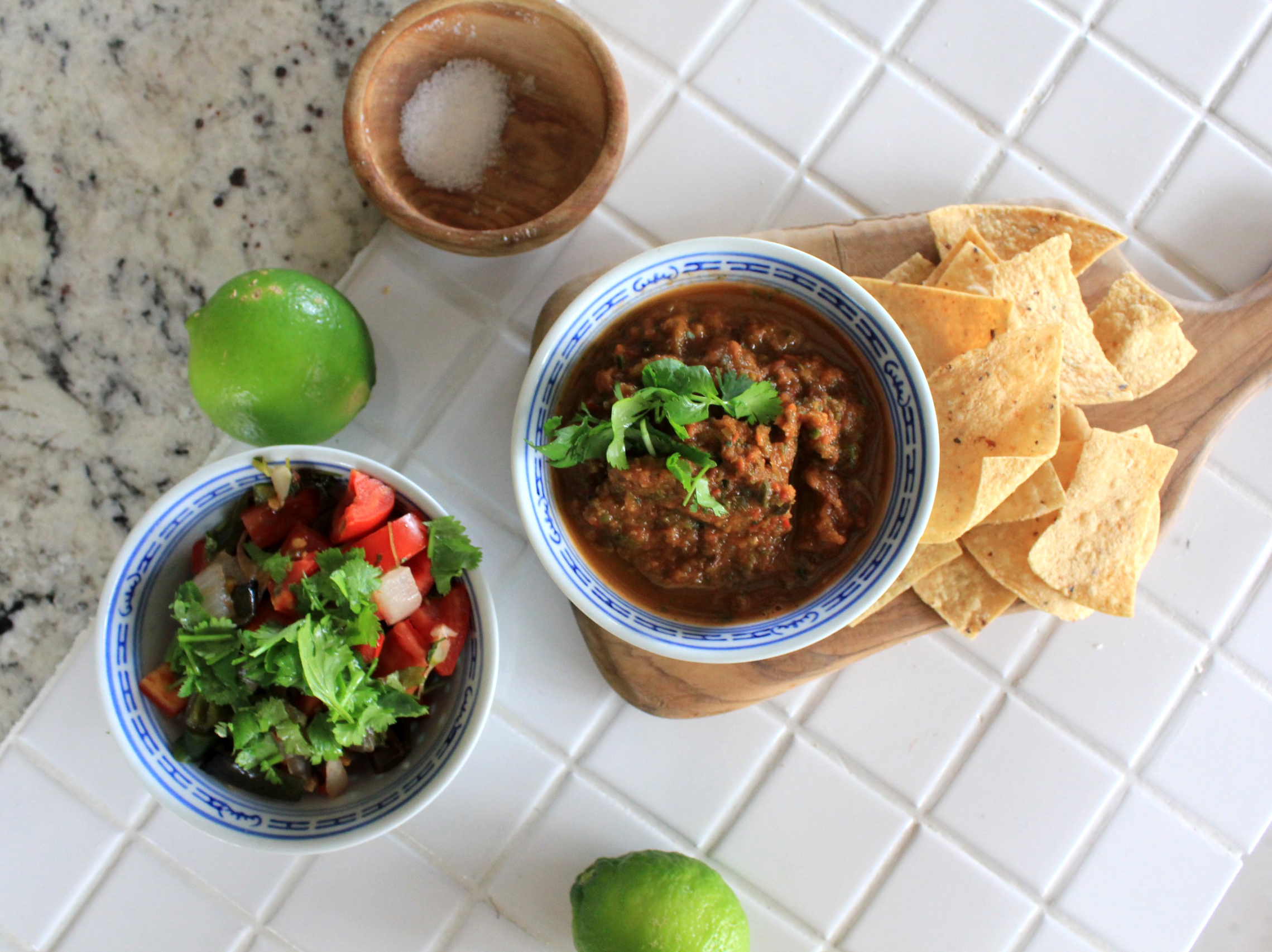 You can leave the salsa chunky and rustic, or blend it (my favourite way) for flavour that really hits with every bite.