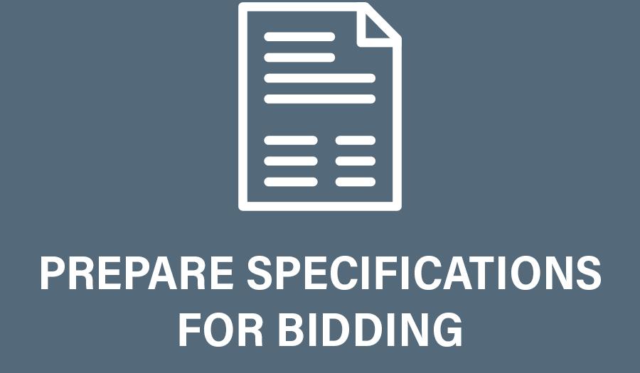 Design Development Specs for Bidding