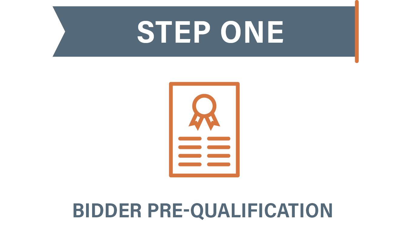 Step 1 Bidder Pre-Qualification