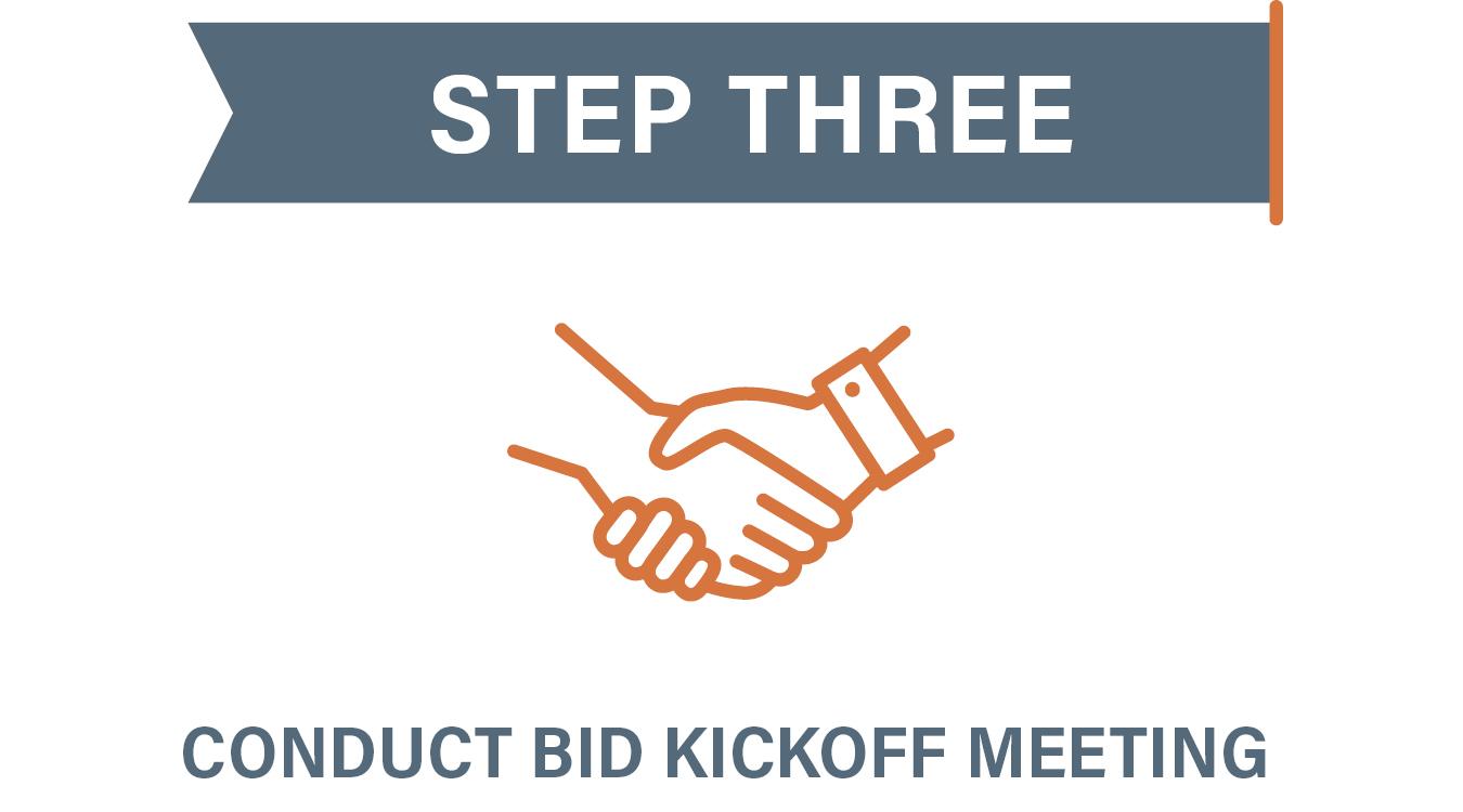 Step 3 Conduct Bid Kickoff Meeting
