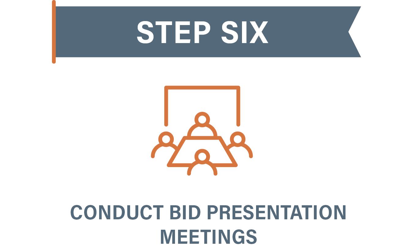 Step 6 Conduct Bid Presentation Meetings