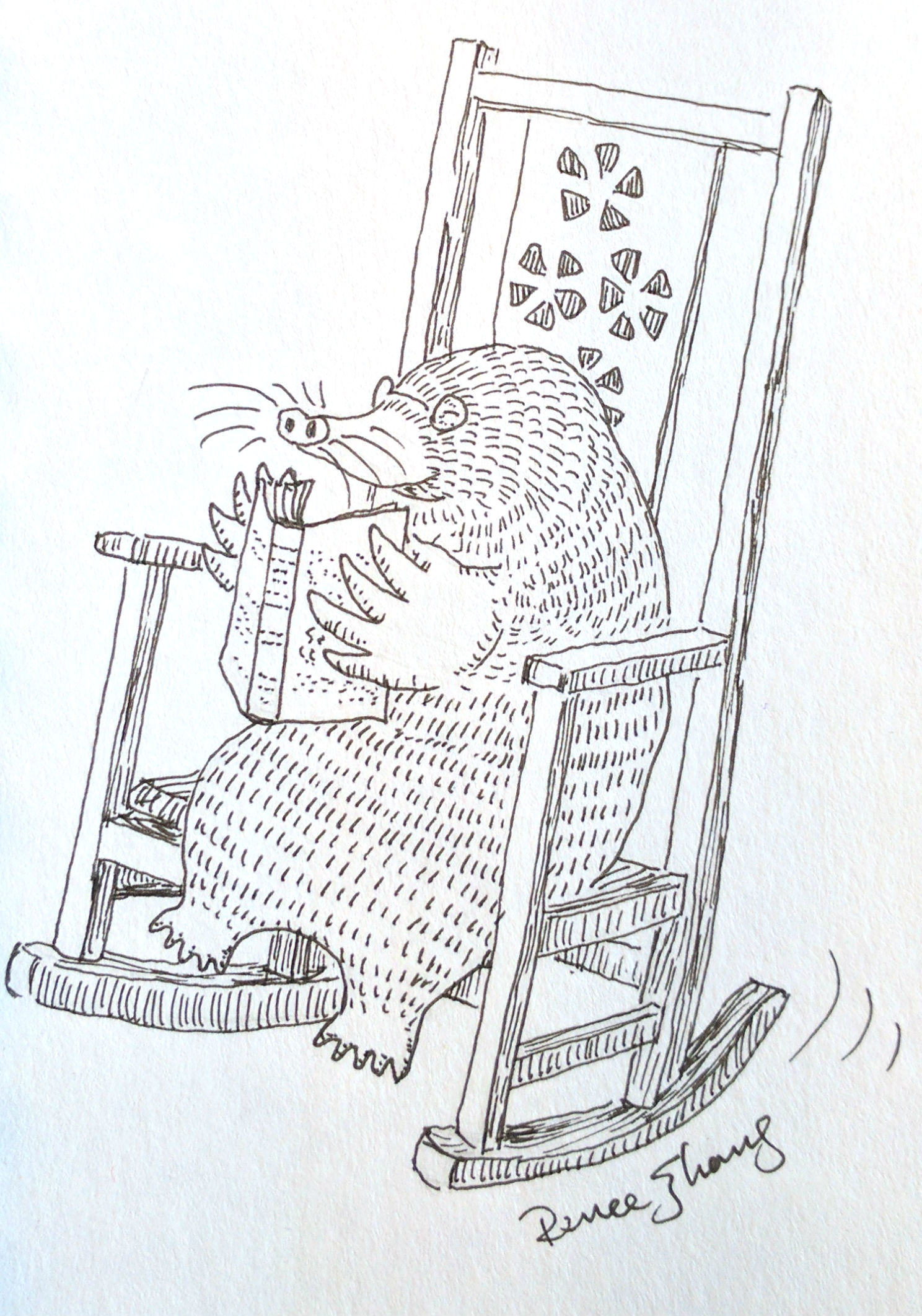 Mole in Rocking Chair (2017)