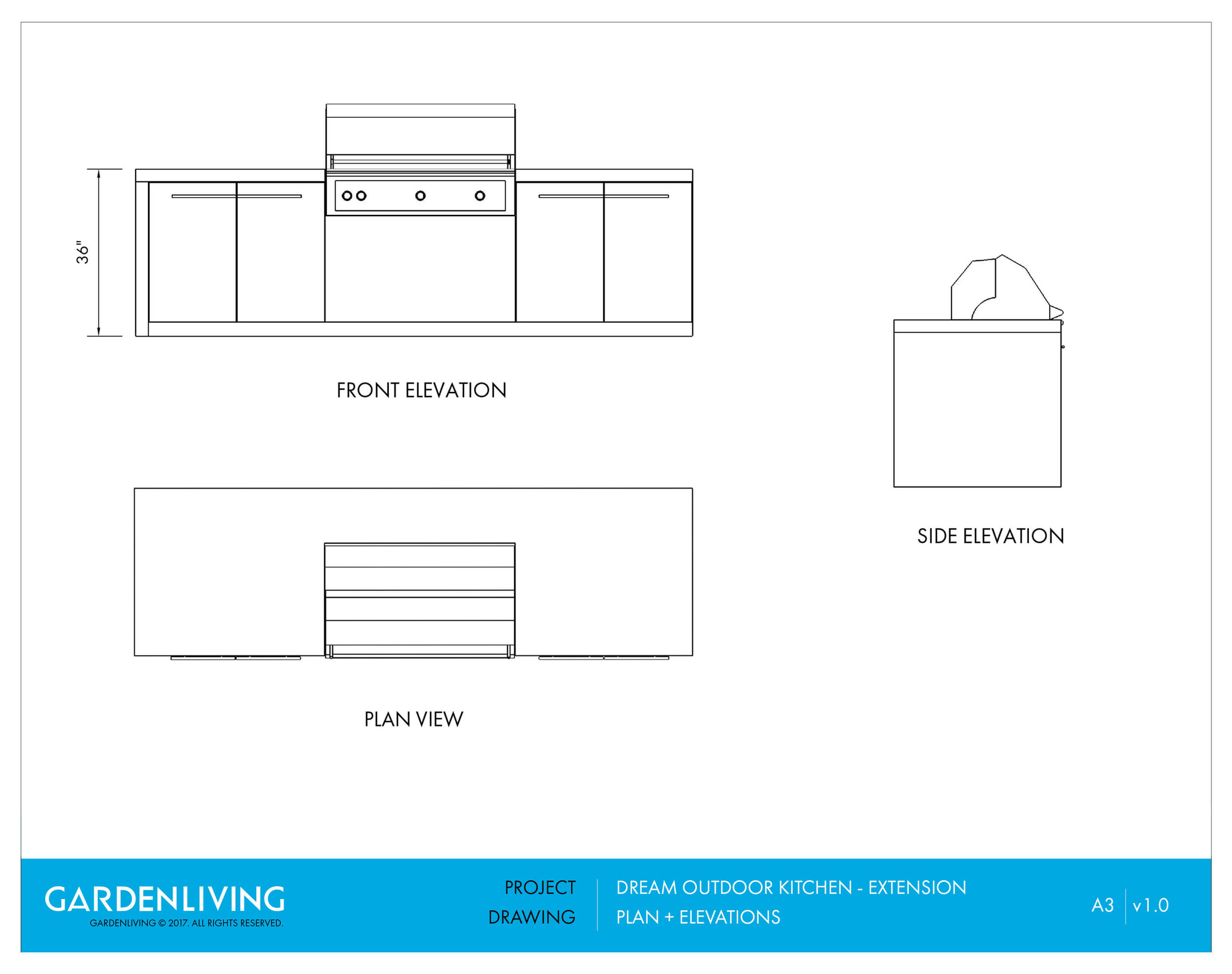 Outdoor Kitchen Poolscape - Plan. Elevations Drawing.jpg