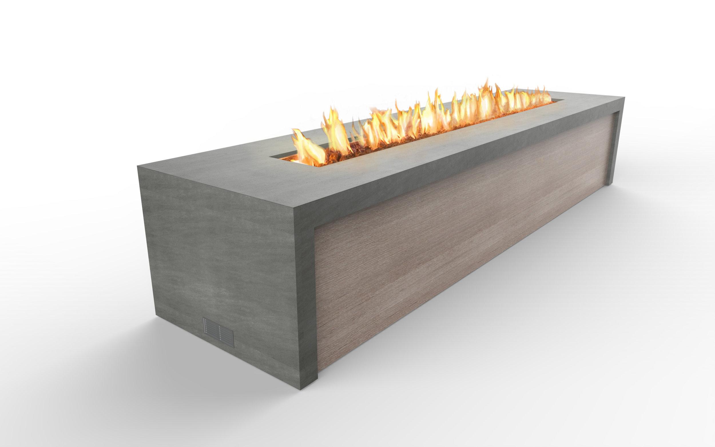 Fire feature concept narrow band - perspective  basalt grey-greyed cedar - fire.jpg