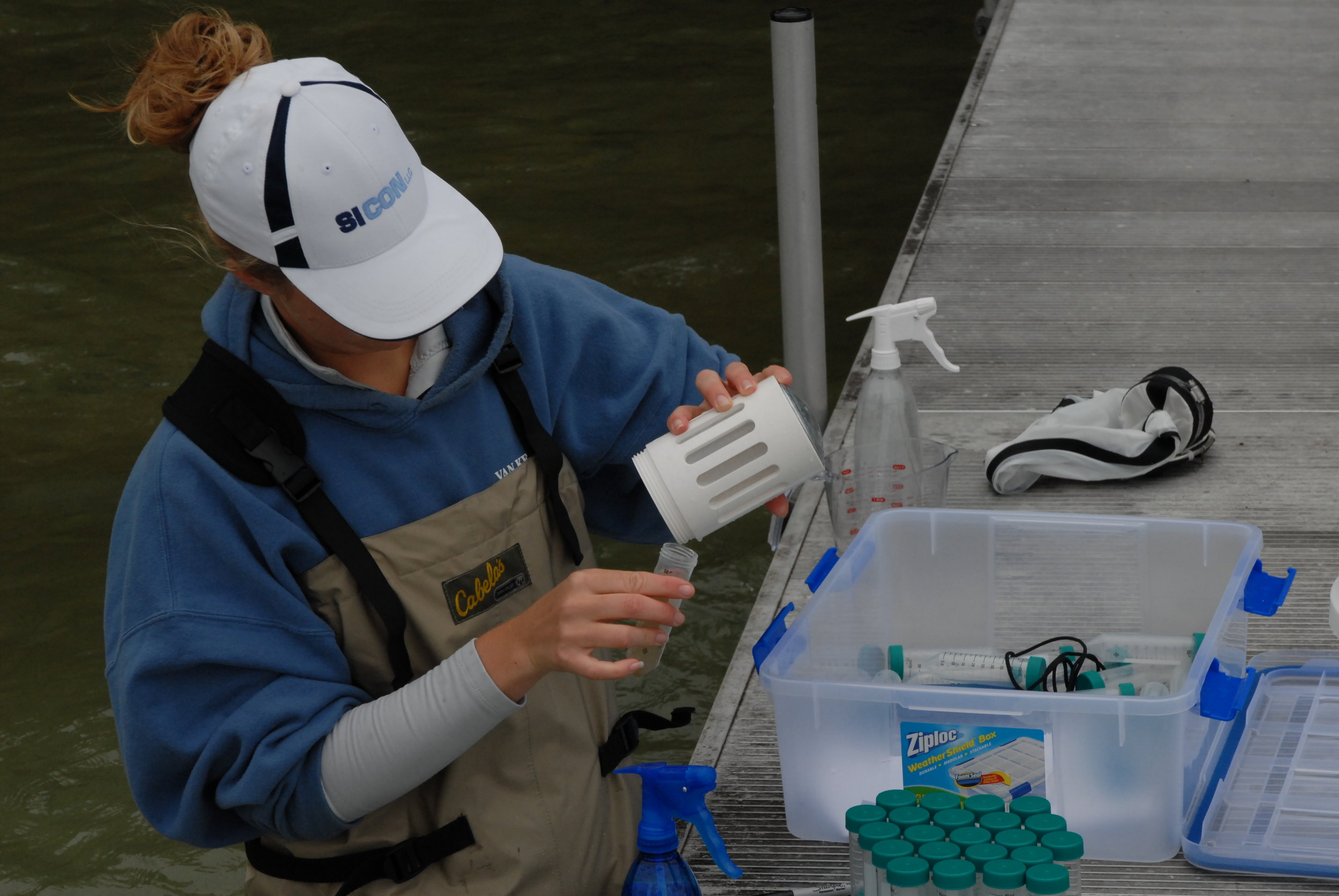 collecting water samples for qPCR analysis