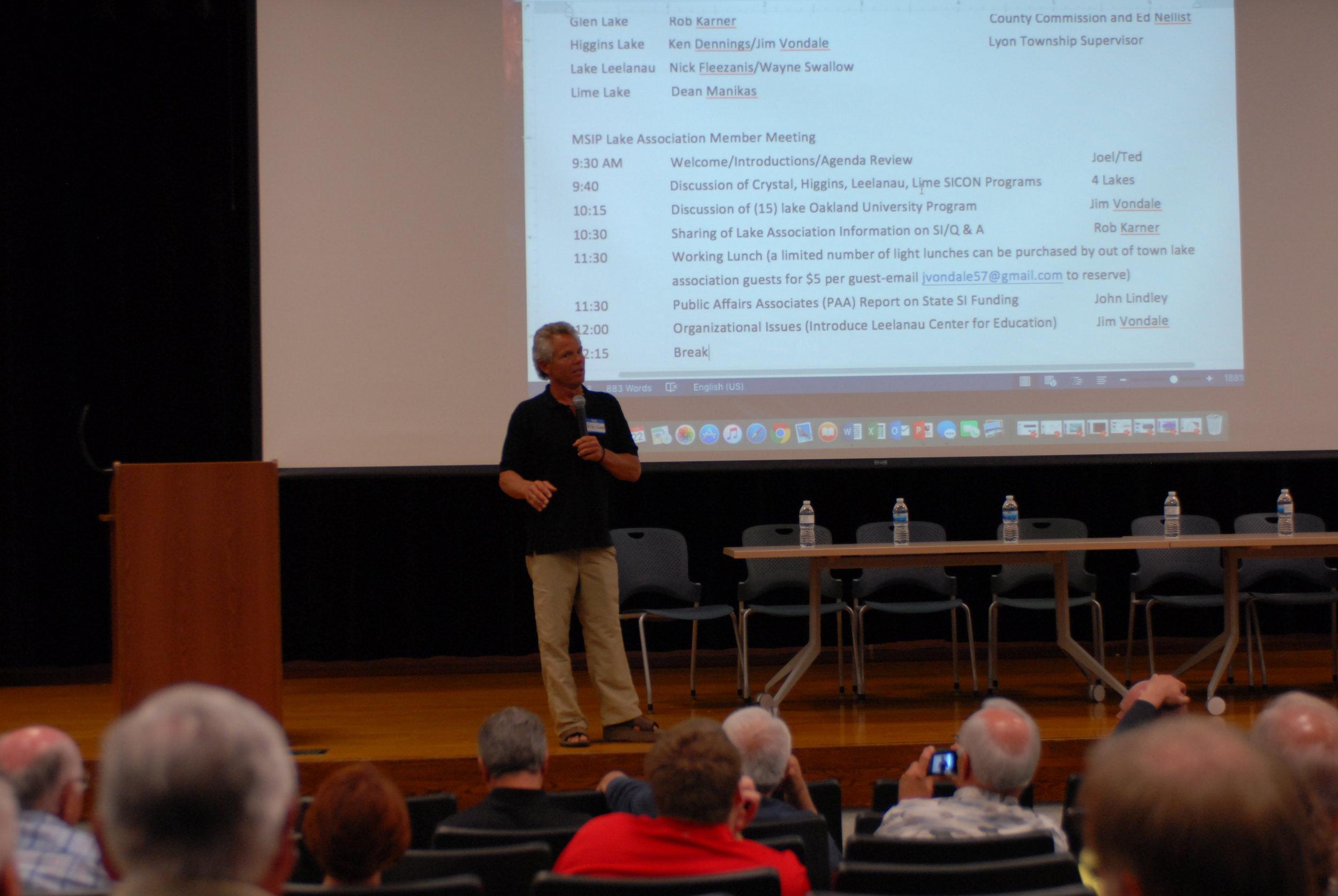 Rob Karner, Watershed Biologist, presents at MISIP Conference, June, 2016
