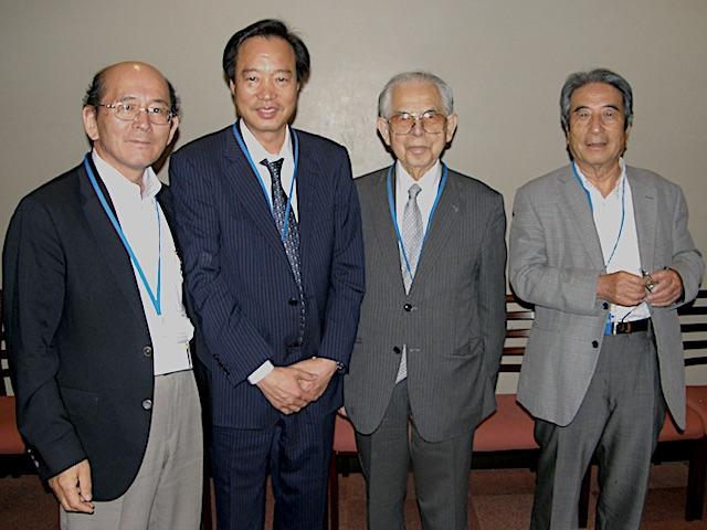 懇親会にて松島理事長、矢野副理事長