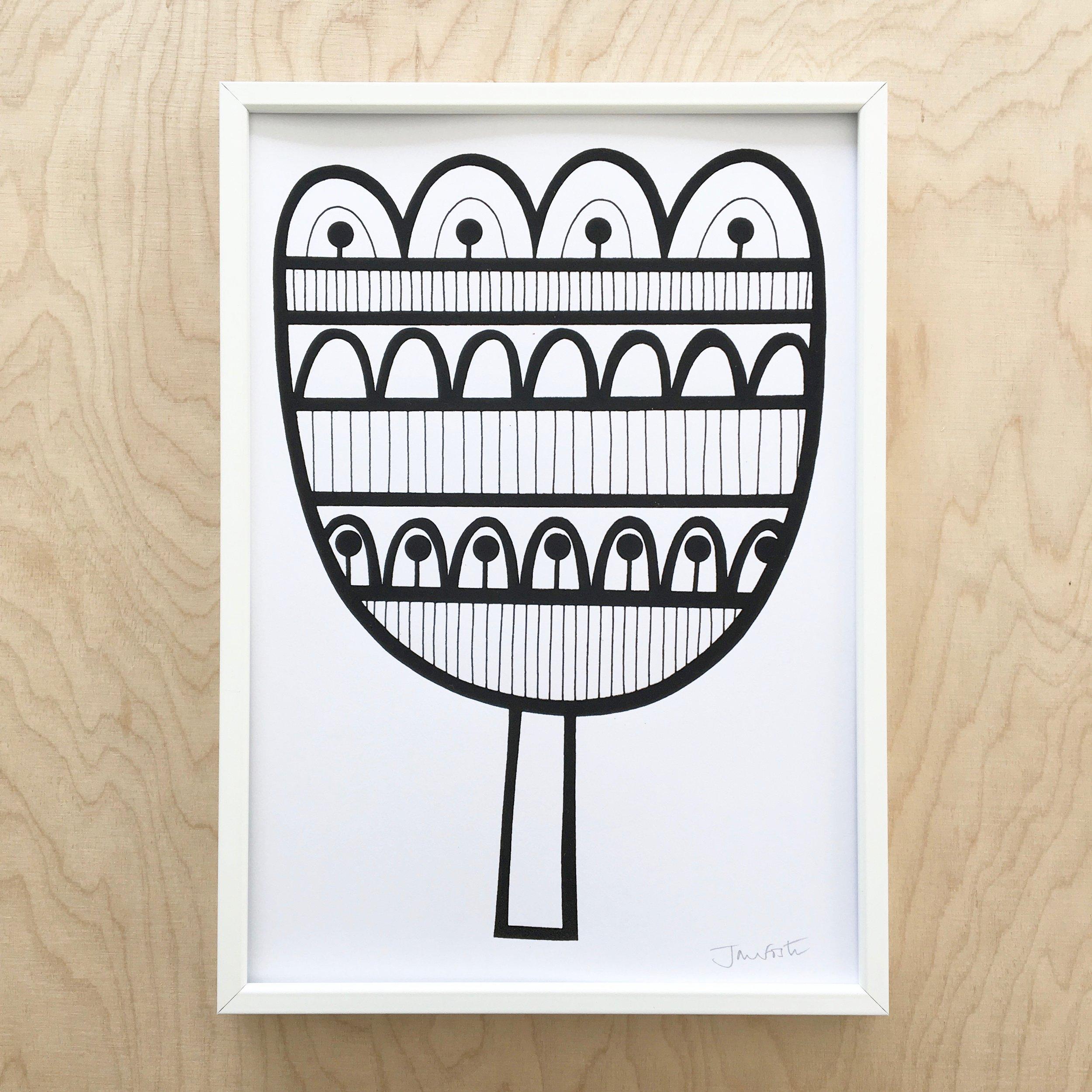 My Scandi Tulip illustration / screen print