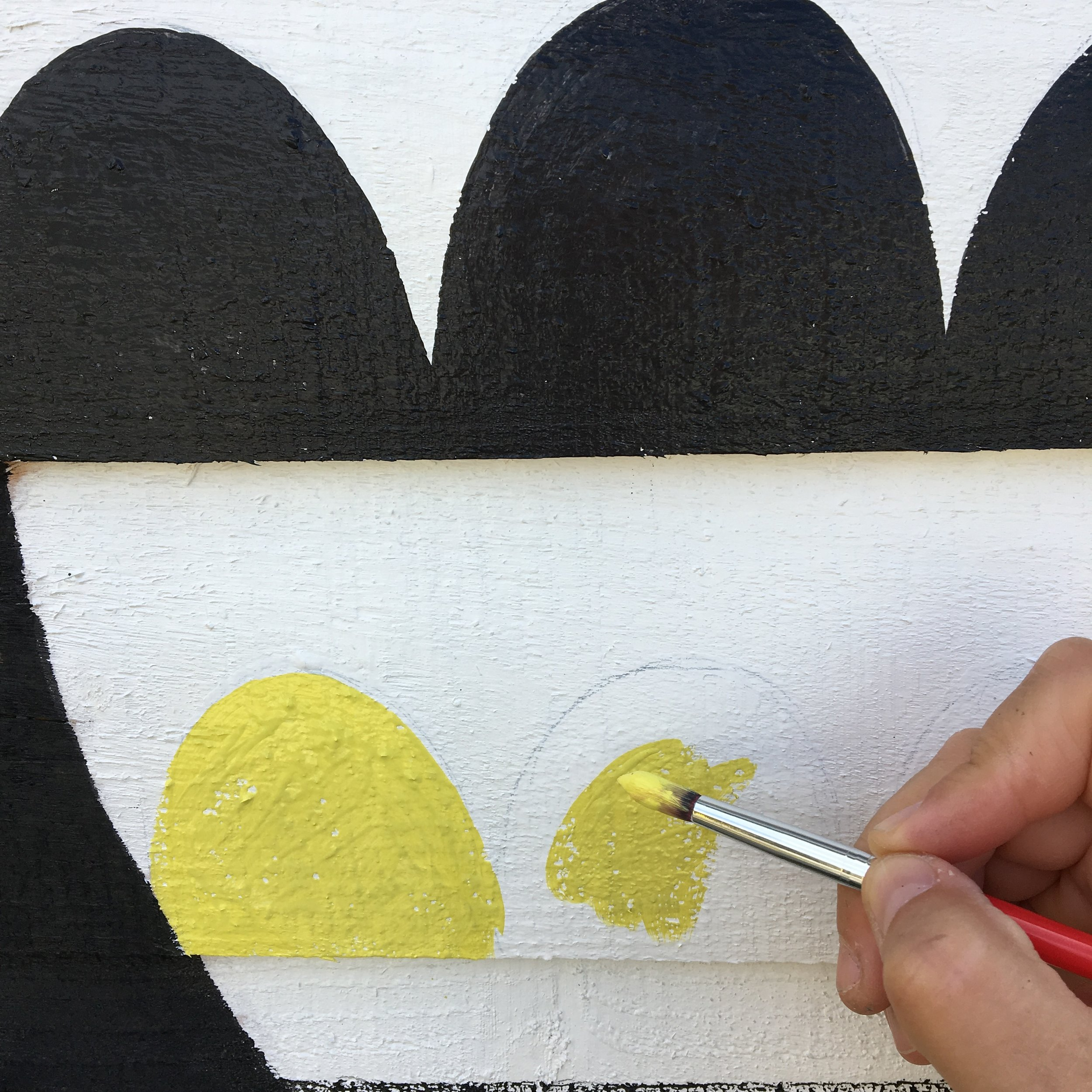 Painting with Dazzling Yellow
