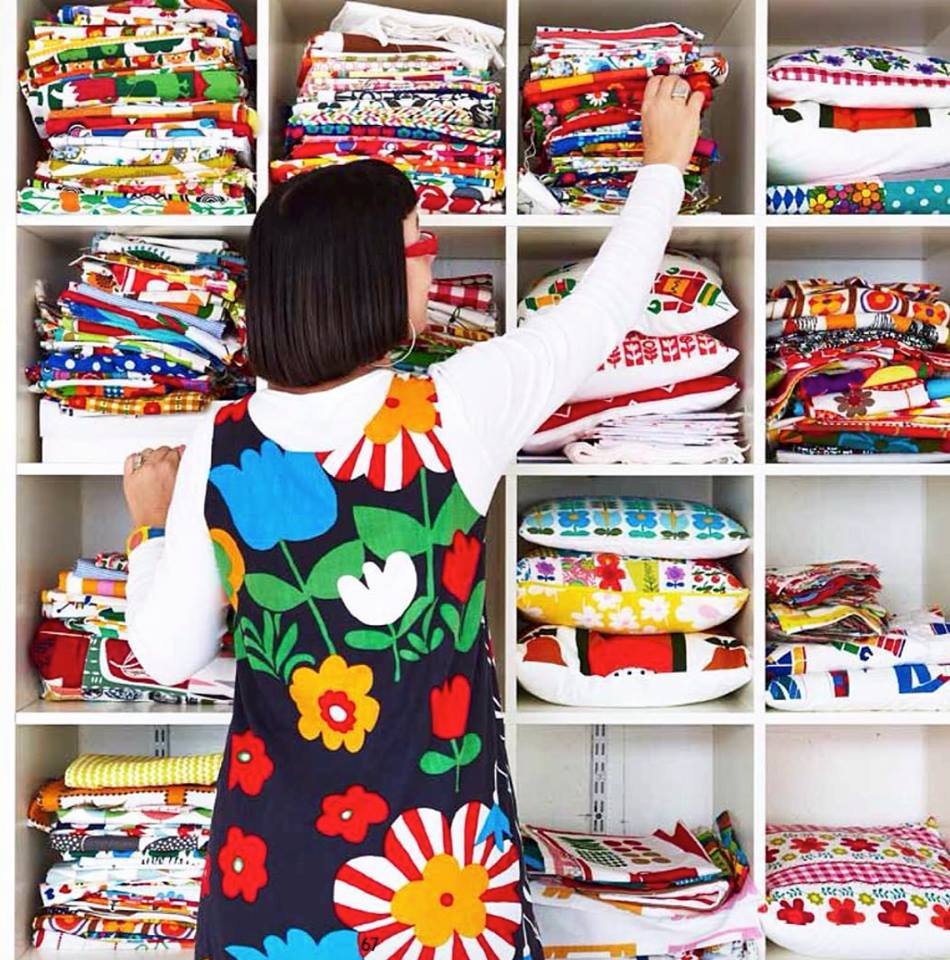 My fabric collection as photographed in 2014.