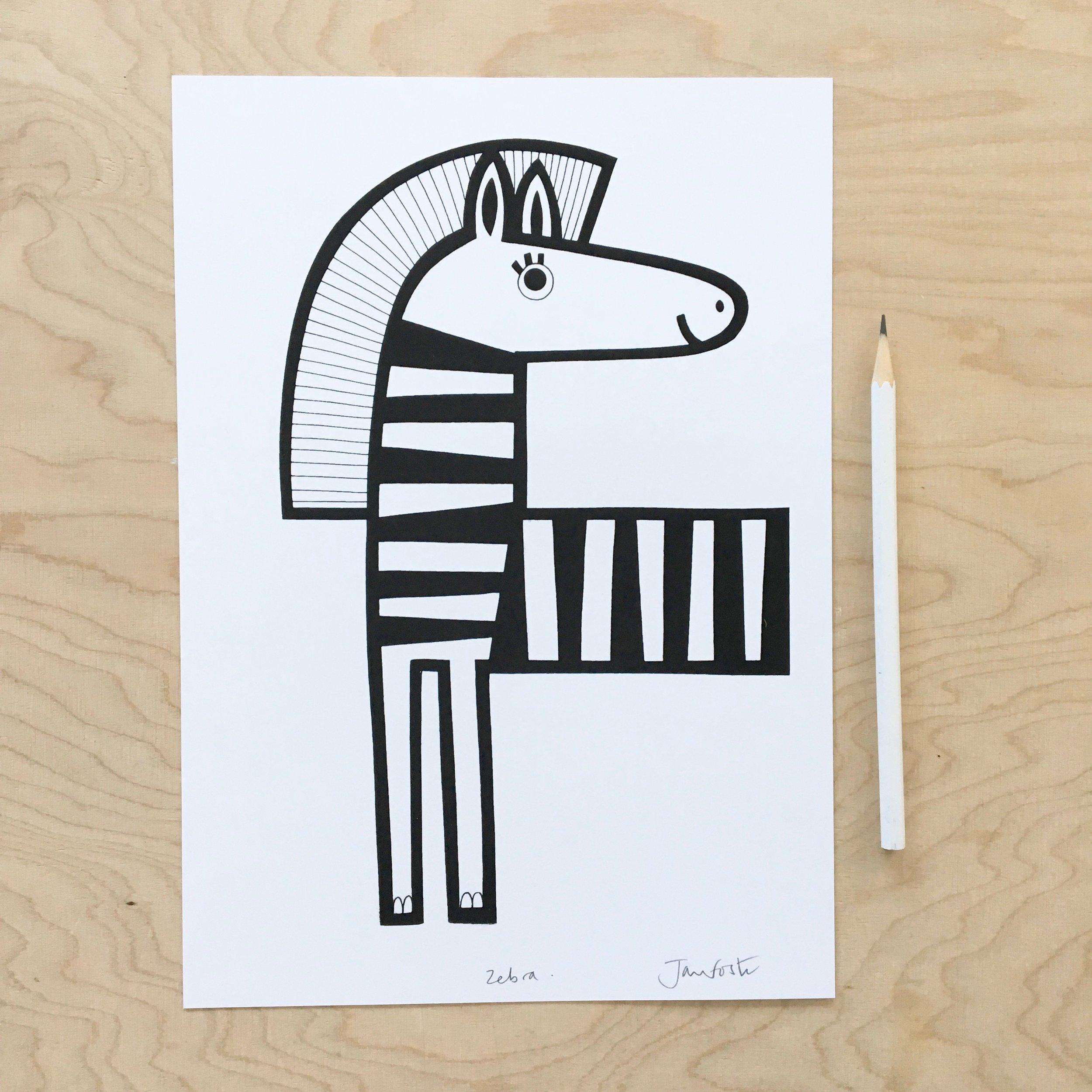 My new zebra screen print