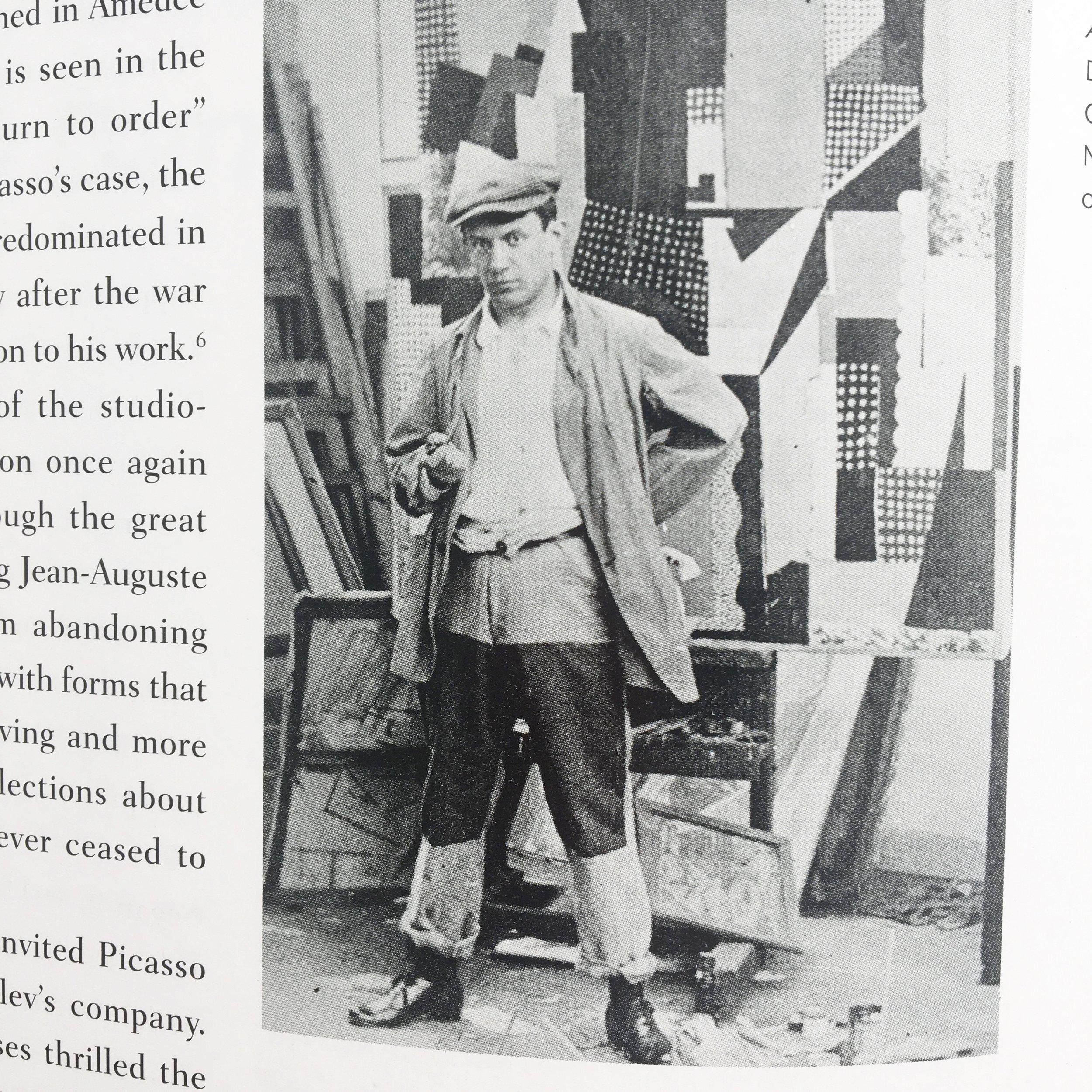Picasso in his Paris studio 1915-16