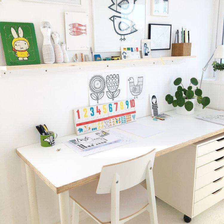 My illustration desk