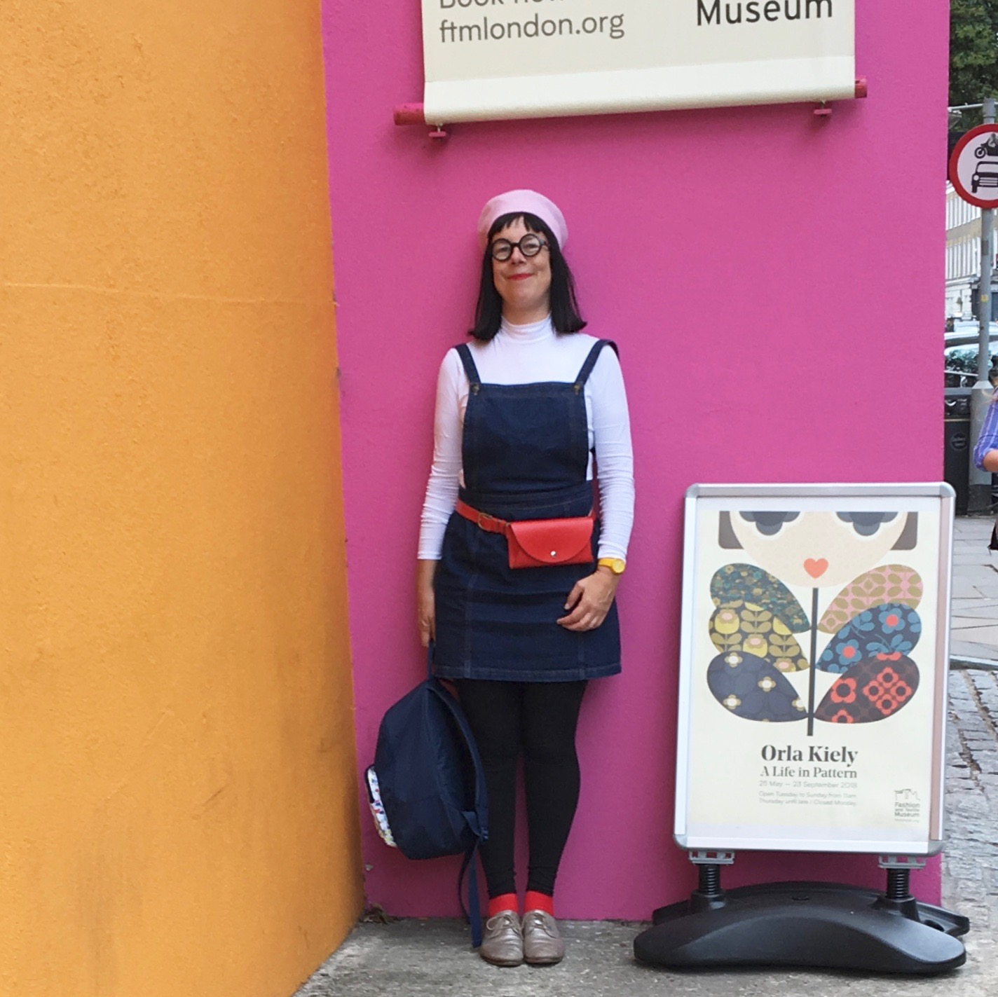Outside the Museum of Fashion and Textiles - (photo taken by my mum! )