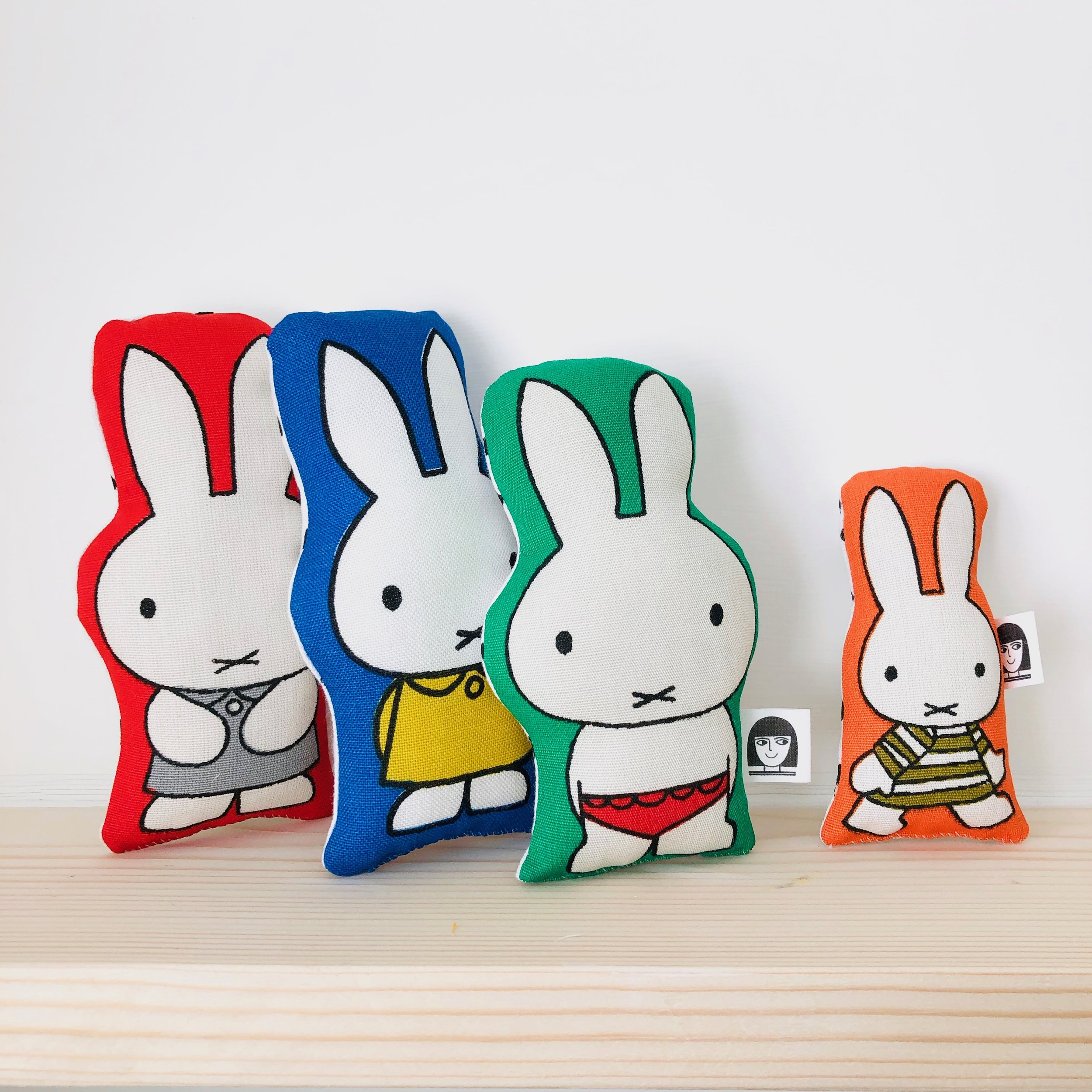 Handmade Miffy toys from vintage Dick Bruna fabric