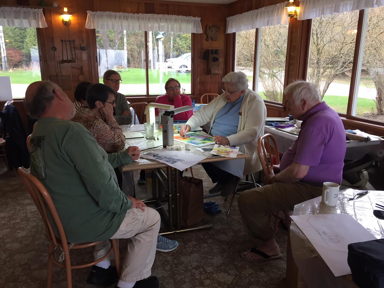 Dian Johnson's watercolor workshop at Sunset Resort Spring 2018