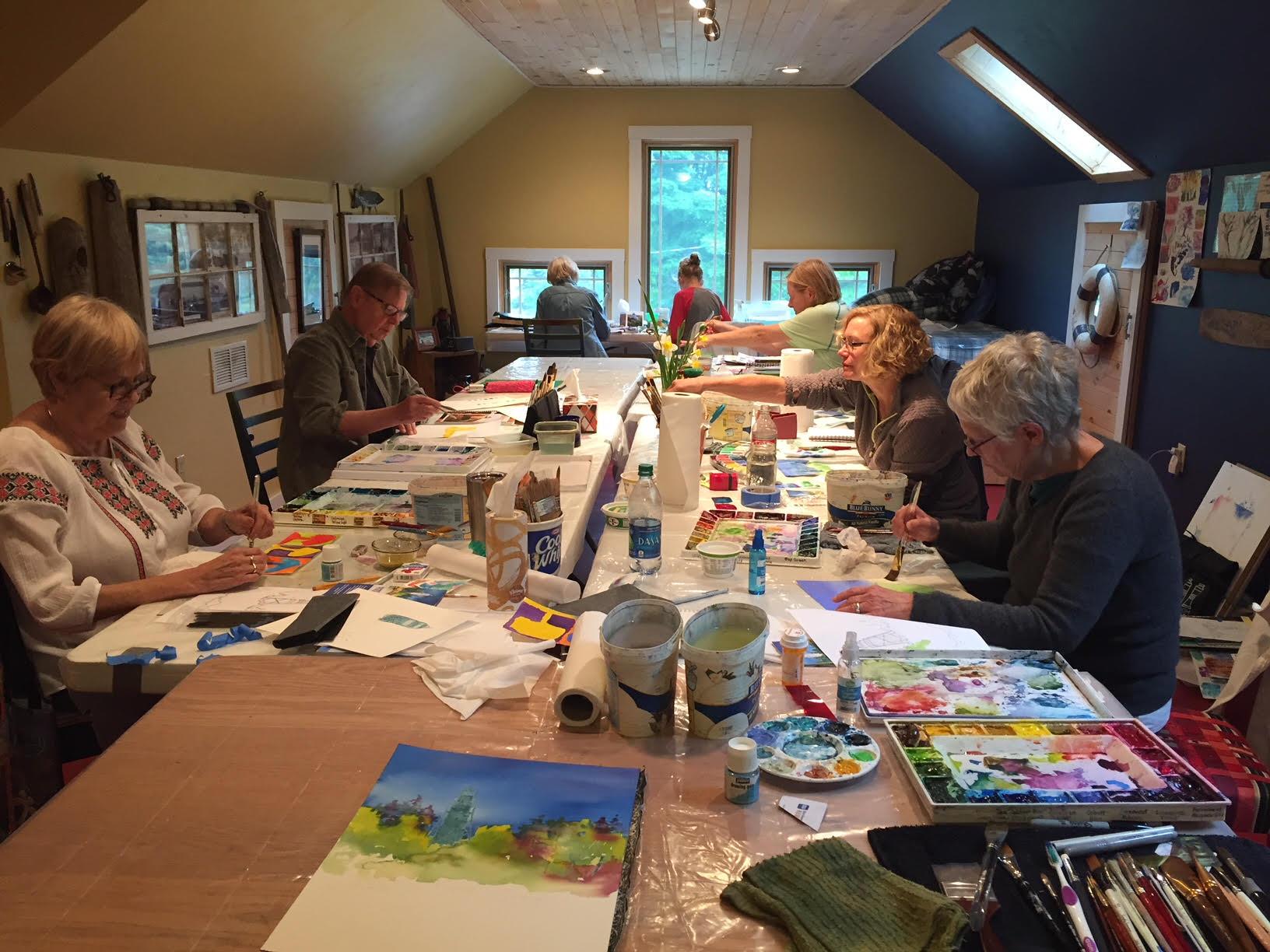 Cathy Meader's Watercolor Workshop June 2018