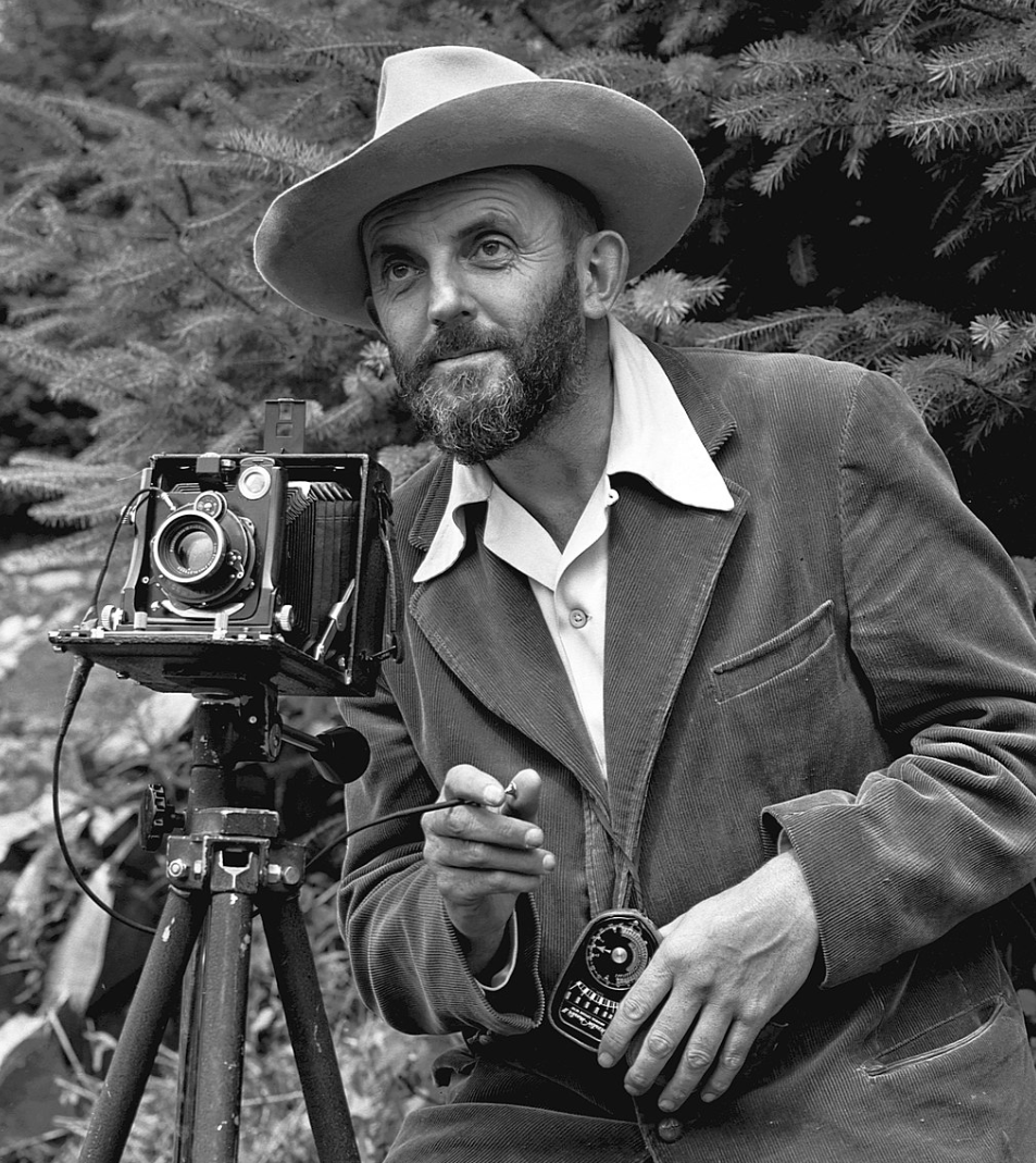 Ansel Adams by J. Malcom Greany - 1950.