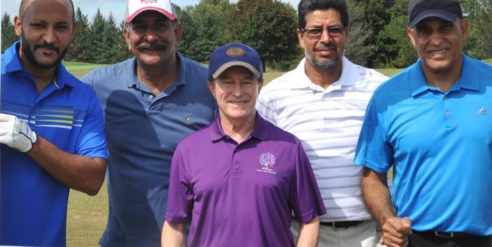 Nep Sidhu, Bhinder Sekhon, Surjit Mann and Dave Sidhu with Sandy Hawley