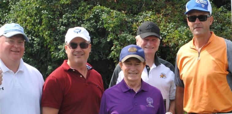 Glen Gibson, Stephen Mangotich, Chris Marvin & David Peddie with Sandy Hawley