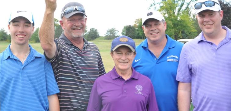 Patrick Morgan, Mark Telfer, Scott Sawyer & James Pelletier with Sandy Hawley