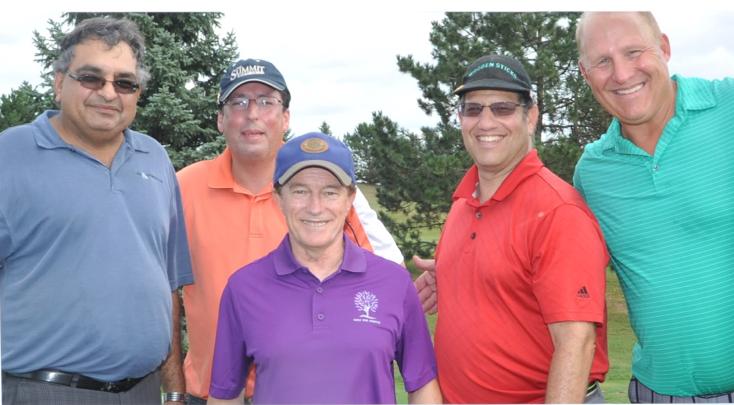 AJ Manhas, Earl Weiner, Jeff Dessau & Gord Lee with Sandy Hawley