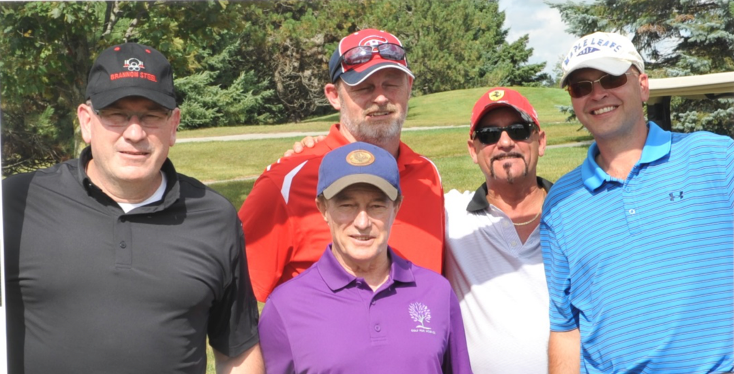 Kevin Brannon, Shawn Wright, Rocky Tersigni & Tom Brannon with Sandy Hawley