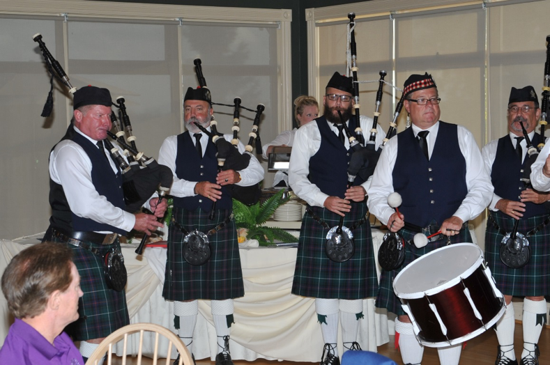 Glenn Healy and the Highland Creek Pipe Band pump out some amazing tunes