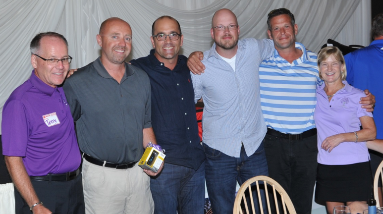 Platinum Sponsor, Danny Mauti of Metro Compactor Services (third from left) with Terry Kirkup, Pierre St. Amand, Ian Calder, Ziya Erkan and Gail Guimond