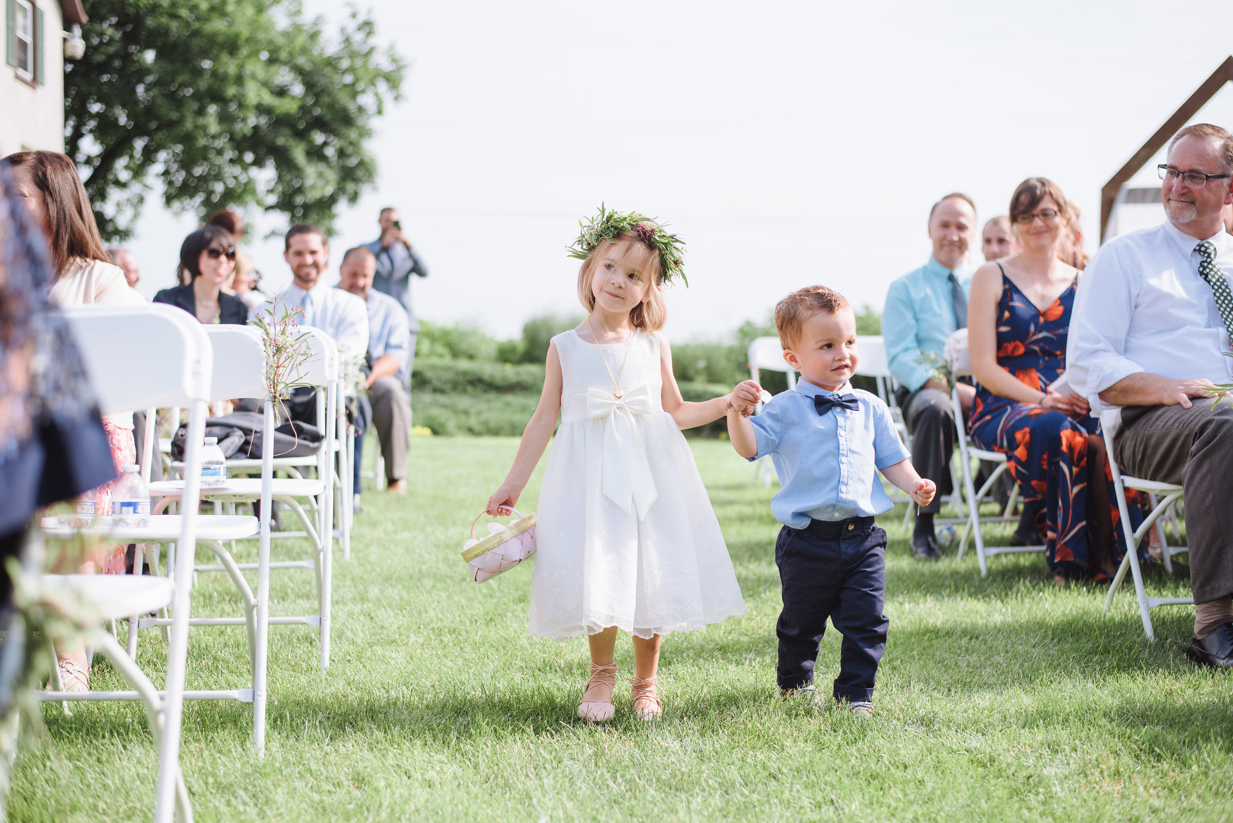 A flower crown is the perfect way to adorn your sweet flower girl with little blooms and greens