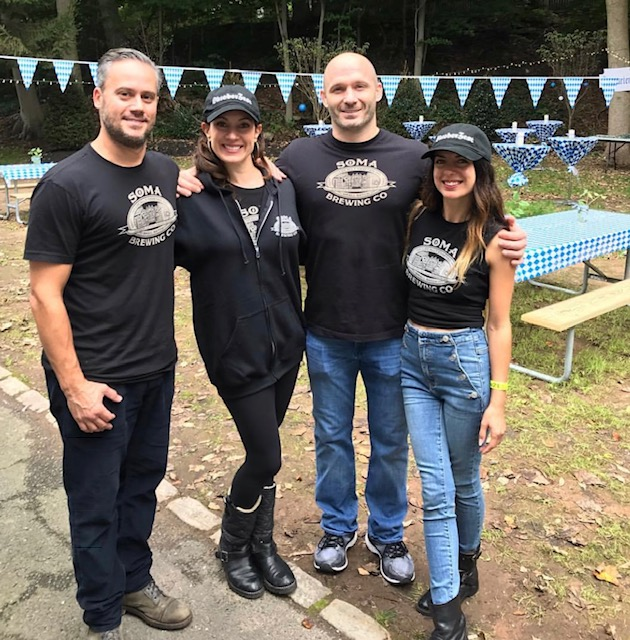From left to right: SOMA Brewing Company founders: Adam Heydt, Bianca Froelich, Chris Froelich, Farnaz Heydt