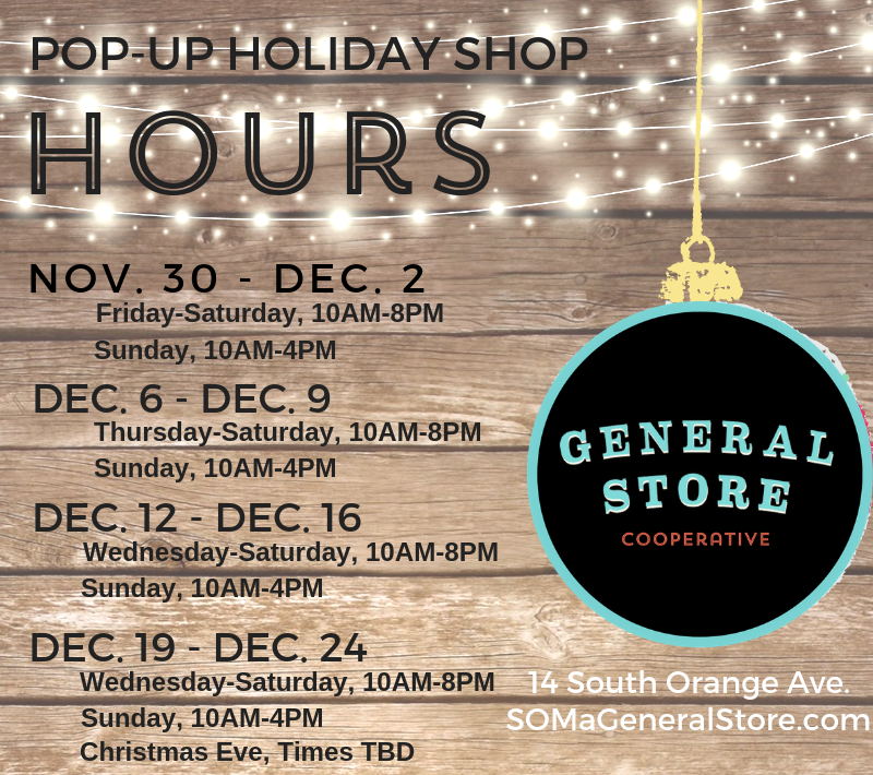 General Store Holiday Pop Up Hours