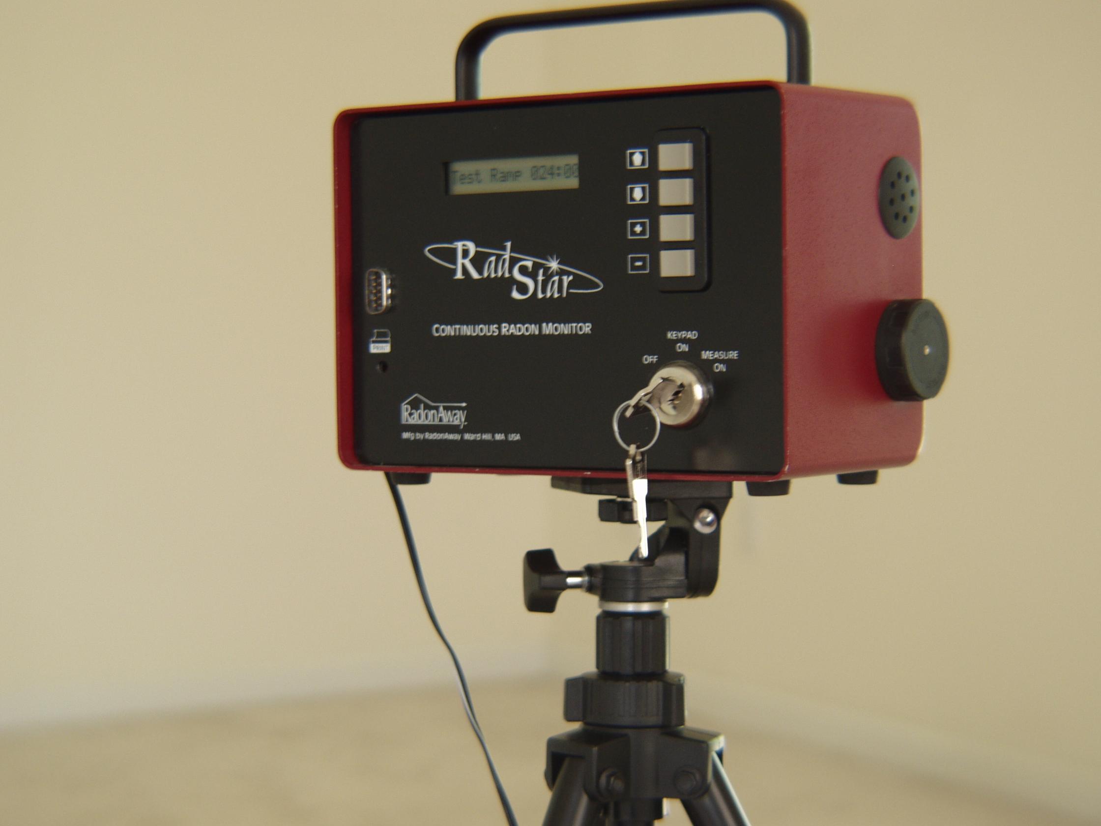 Radon testing equipment, continuous monitor